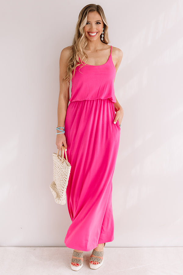 Beachy Babe Maxi In Pink