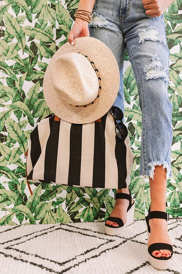 Keep It Beachy Canvas Tote