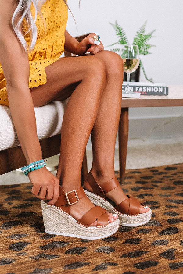 The Faye Wedge In Cinnamon