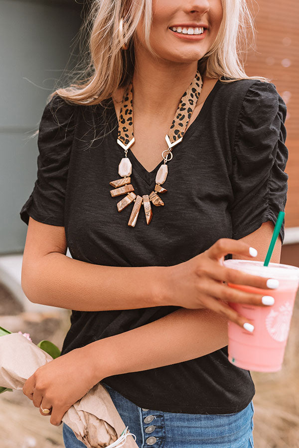 Chic Reputation Leopard Necklace