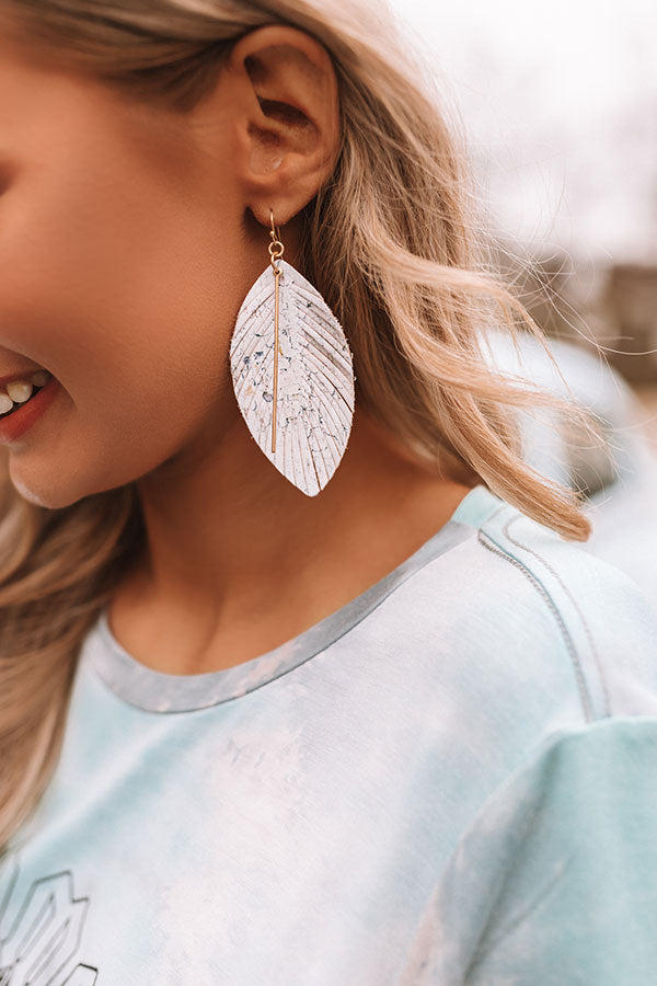Talk Of The Boardwalk Earrings In Stone