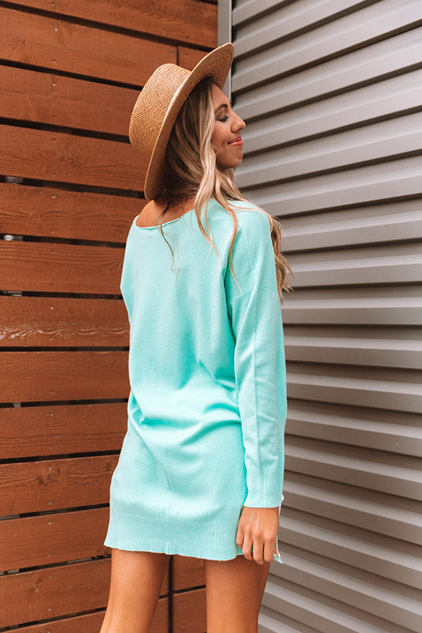 Great Idea Shift Tunic In Turquoise
