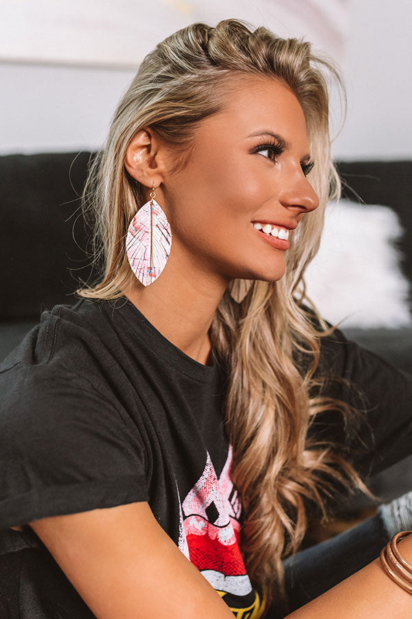 Talk Of The Boardwalk Earrings In Pink