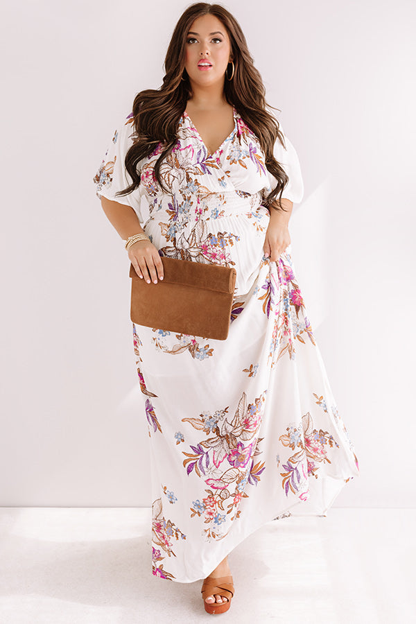 Feeling Decadent Floral Maxi Dress in Ivory