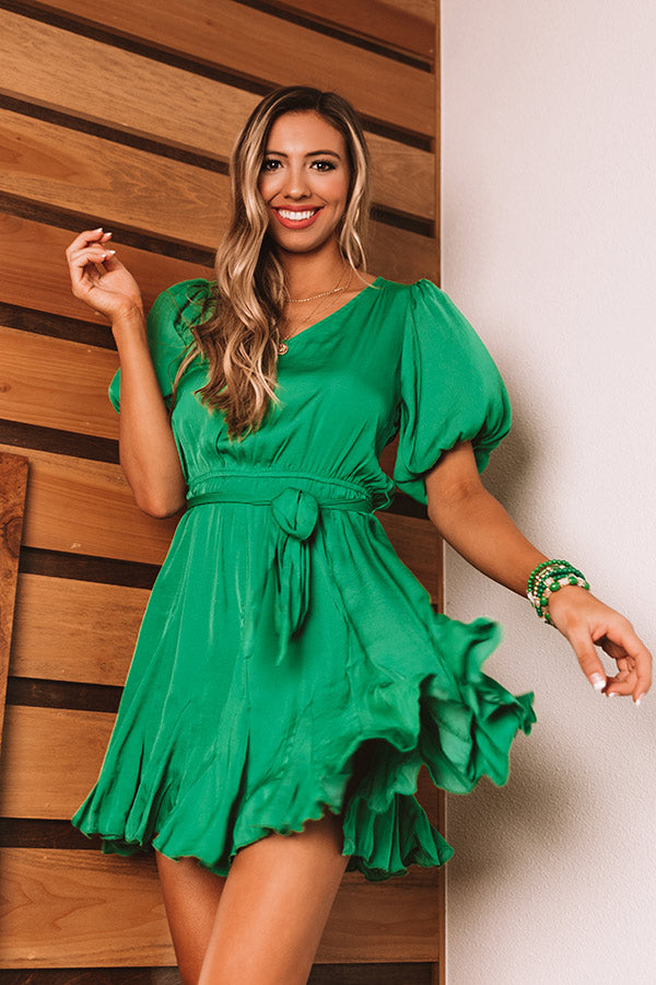 Tuscan Twirls Dress In Emerald