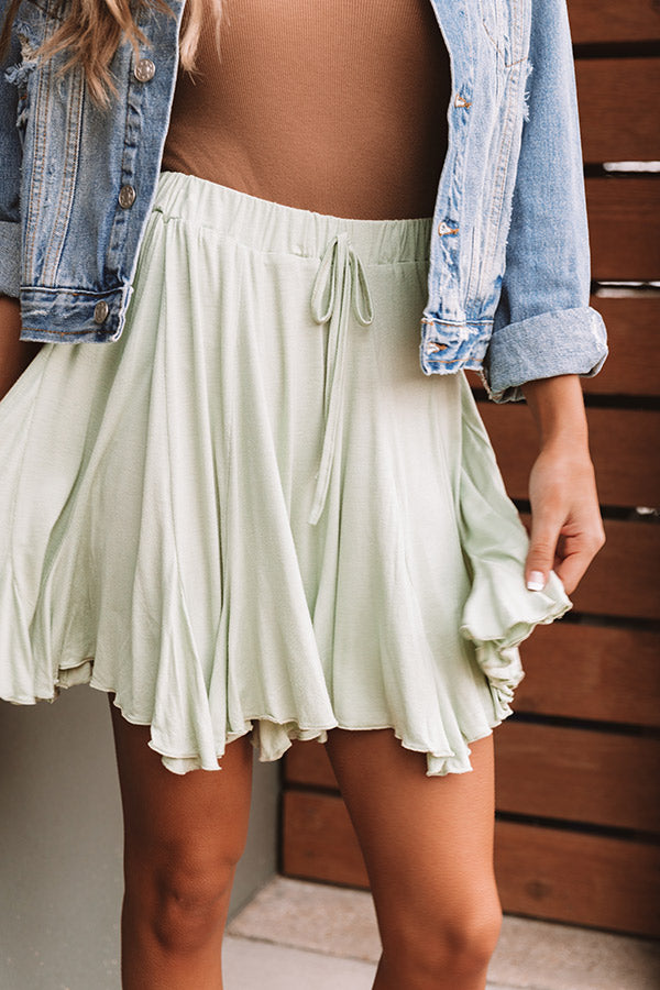 Made To Dance Skirt In Seaglass