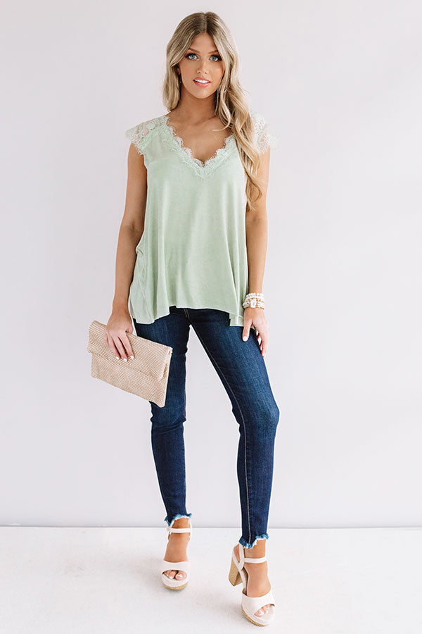 Cayman Crushing Shift Top In Pear