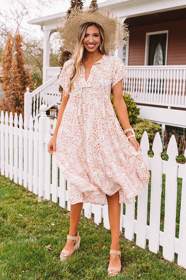 Harbor Happiness Floral Midi