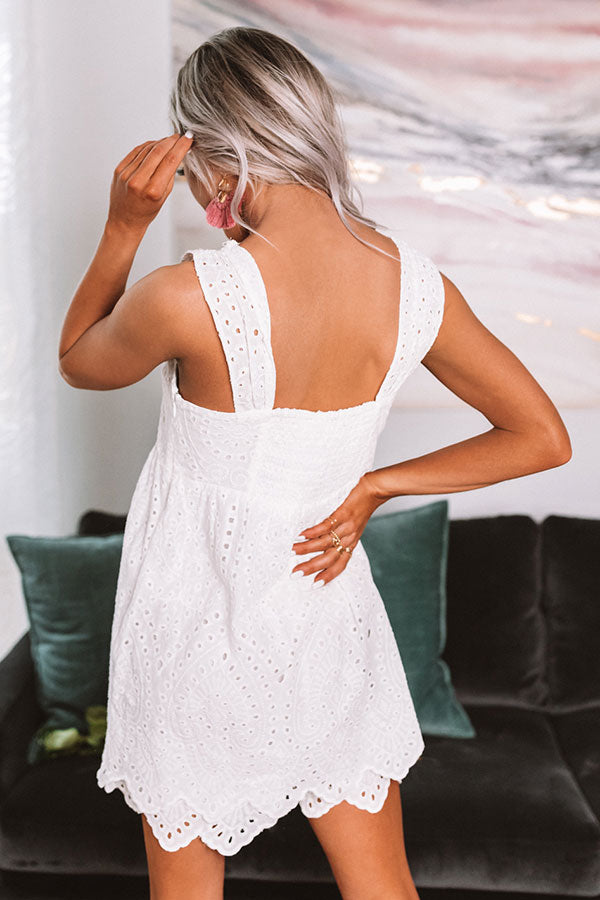 Cocktail Cutie Eyelet Romper In White
