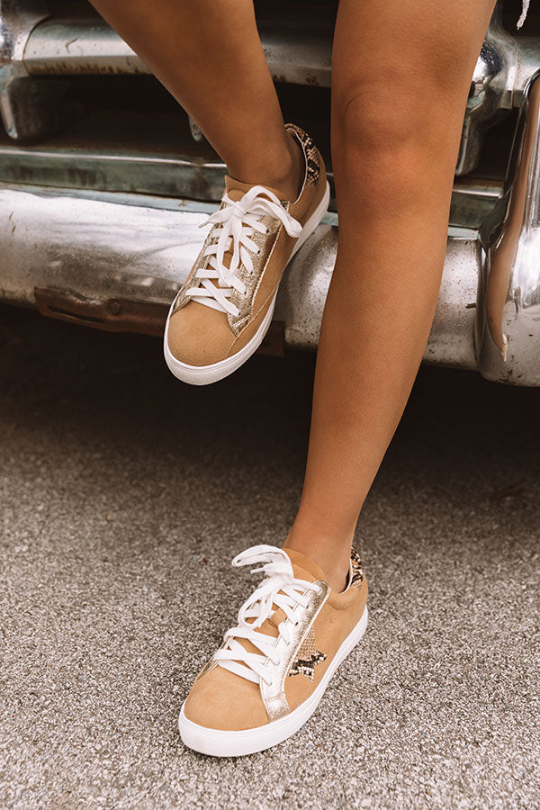 Shine Brighter Sneaker In Iced Mocha