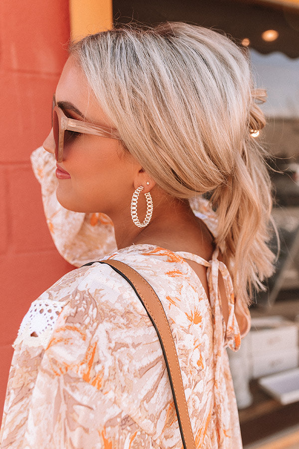 Fallyn Hoop Earrings in Gold