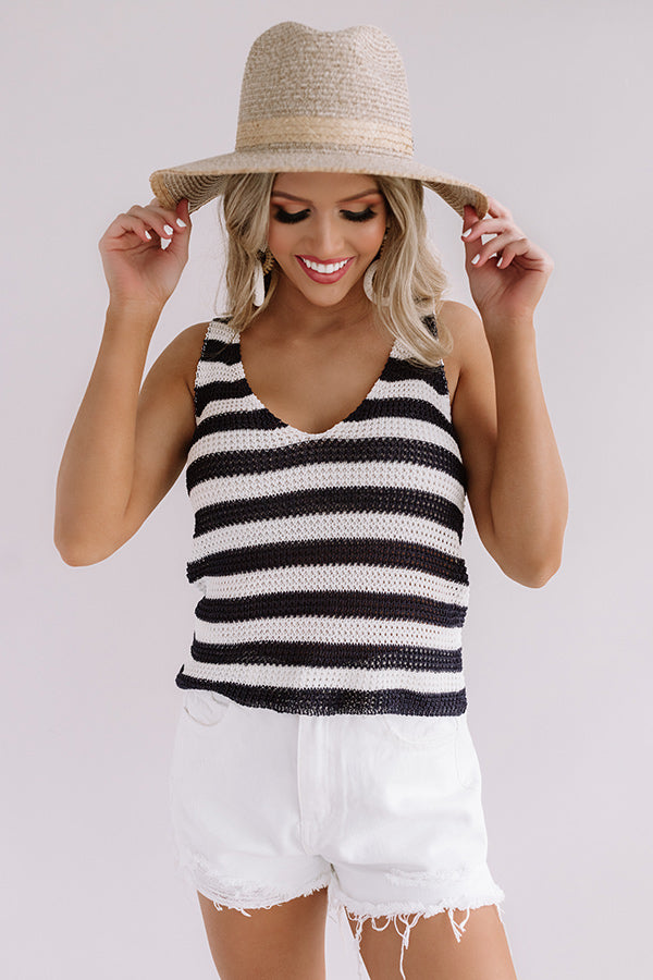 Keep It Beachy Knit Tank In Navy