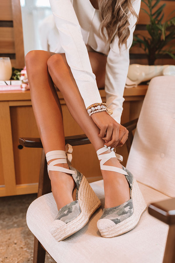 The Margot Camo Wedge