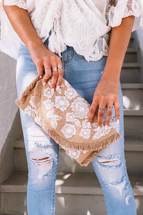 Destination Darling Embellished Clutch