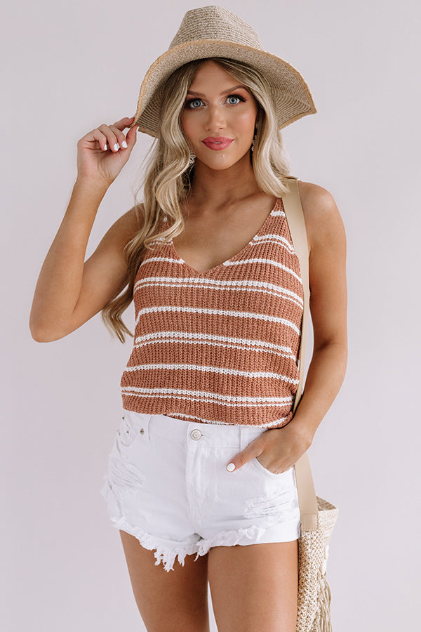 Beachy Boardwalk Knit Tank