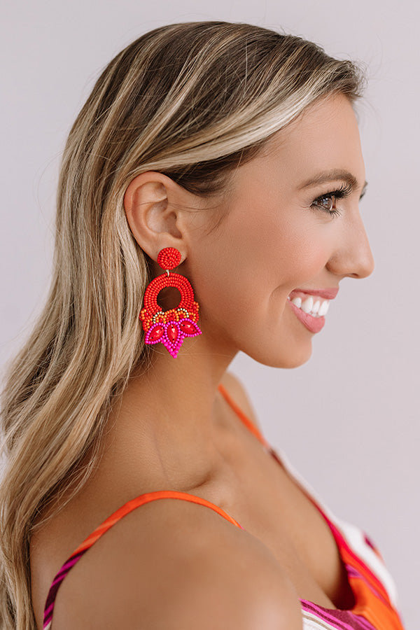 Spicy Margs Beaded Earrings In Red