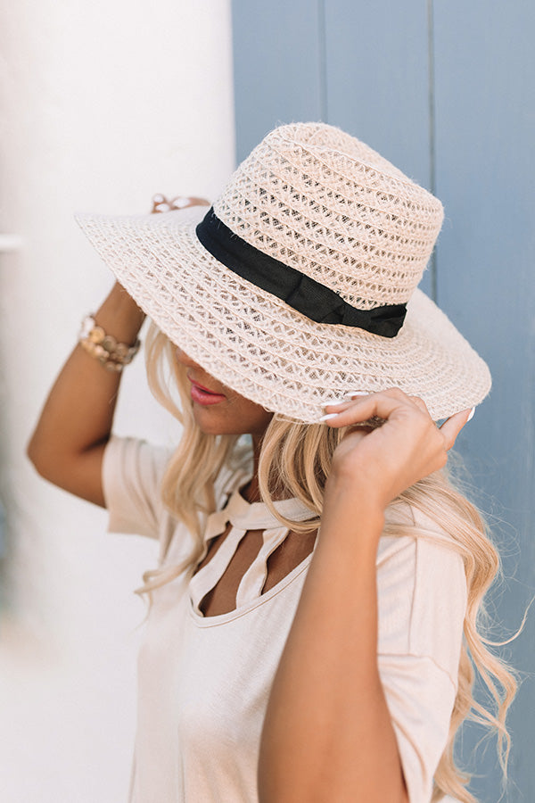 Surf Shack Woven Hat In Ivory