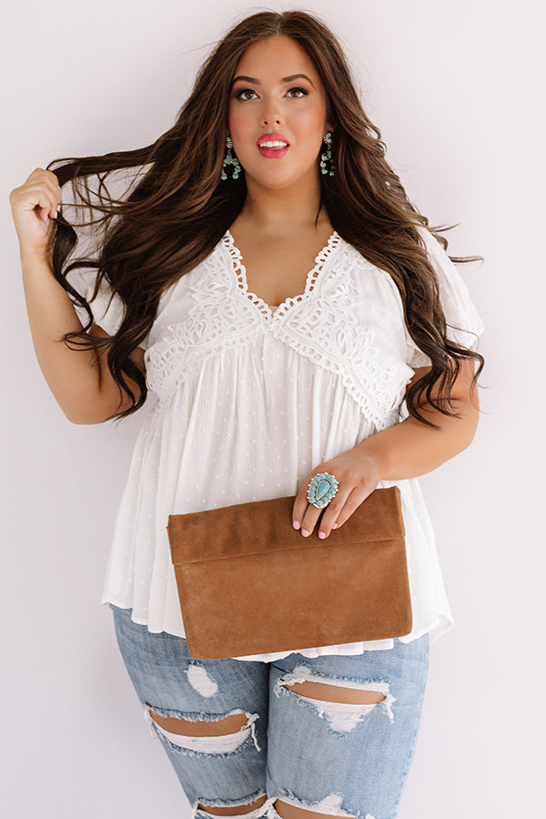 Here's To Happiness Babydoll Top In Ivory