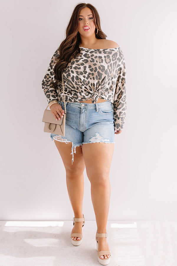So Outspoken Leopard Shift Top