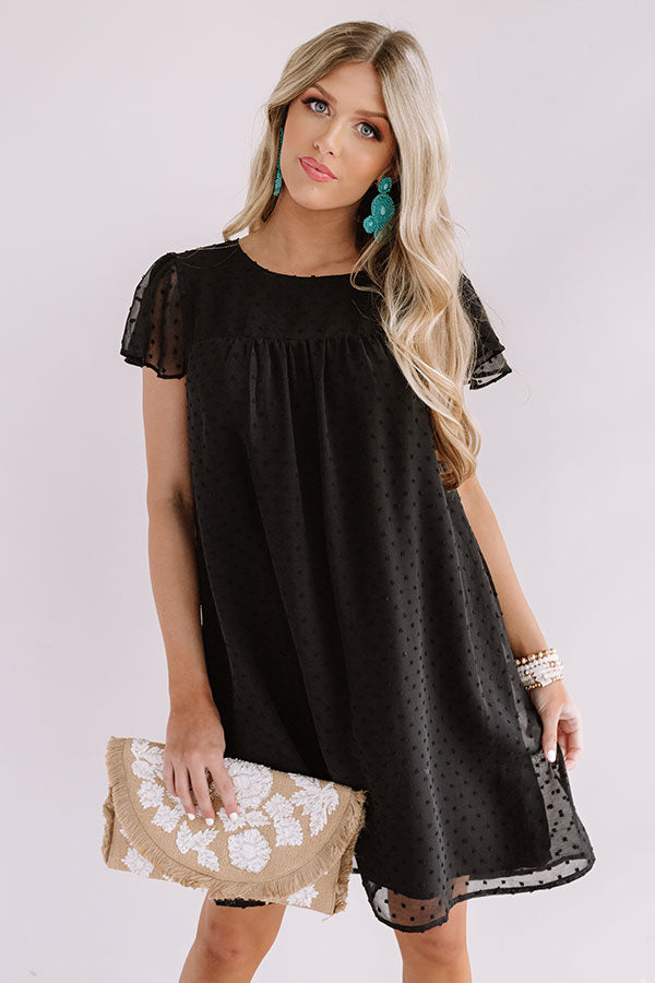 Landing In Laguna Babydoll Dress In Black