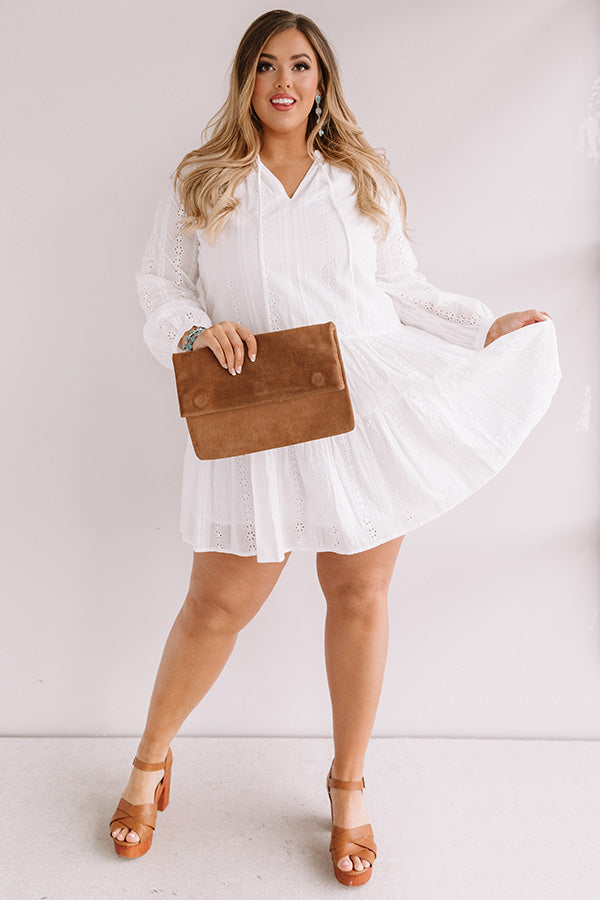 Excited For Paradise Eyelet Dress in White