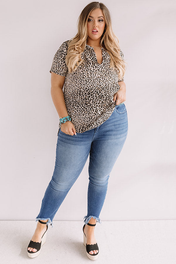 Back In Town Leopard Shift Top