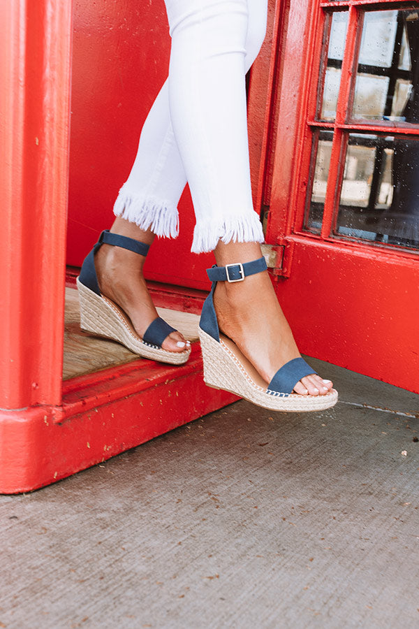 The Alba Wedge In Navy