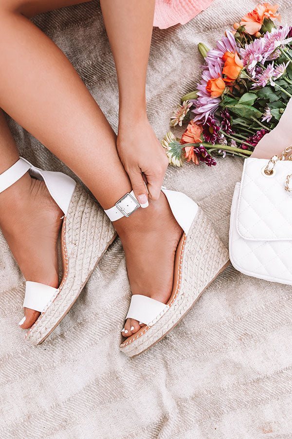 The Alba Wedge In Ivory