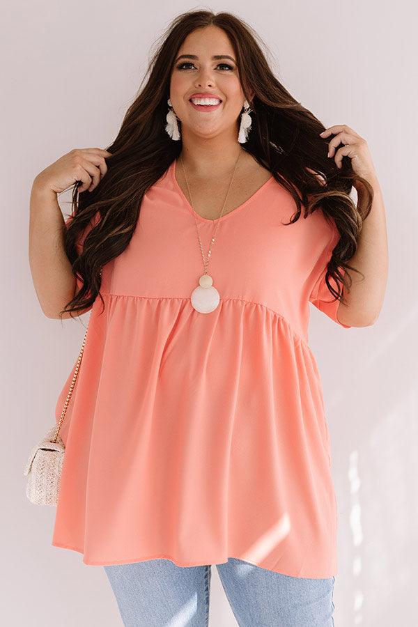 Bonding In Bali Tunic Top In Peach