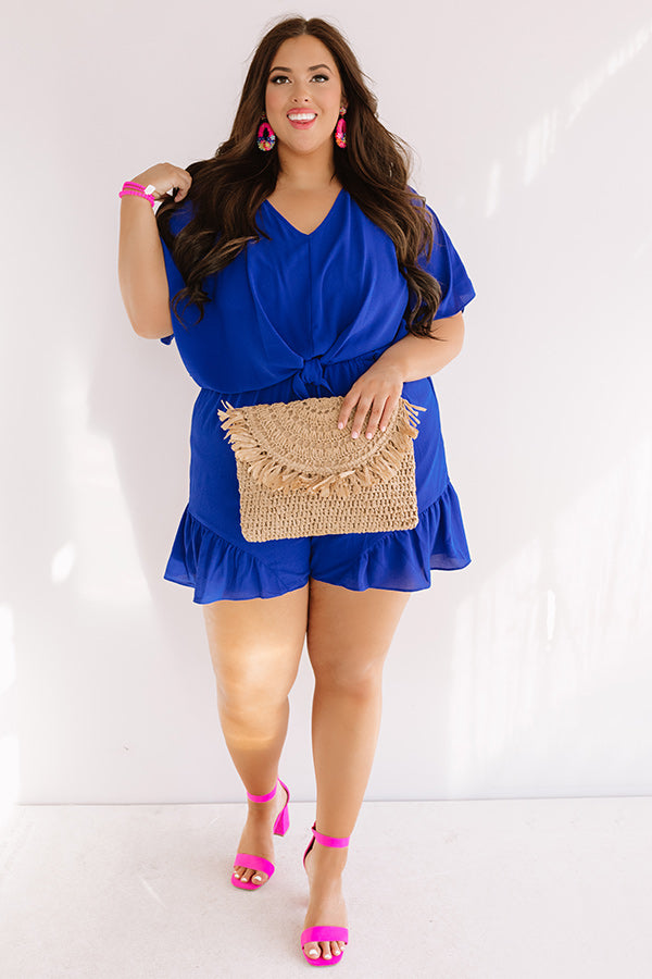 Cali Chick Romper In Royal Blue
