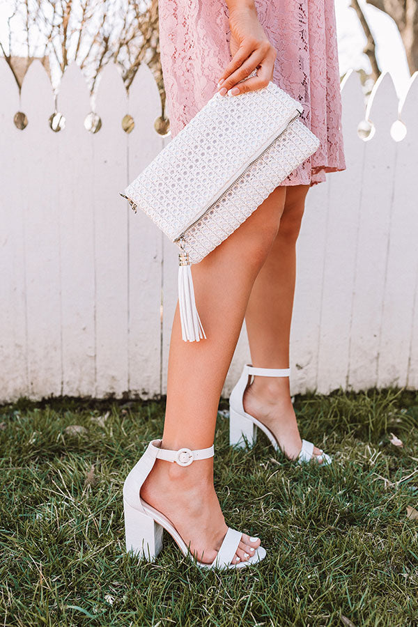 The Melina Faux Leather Heel In White
