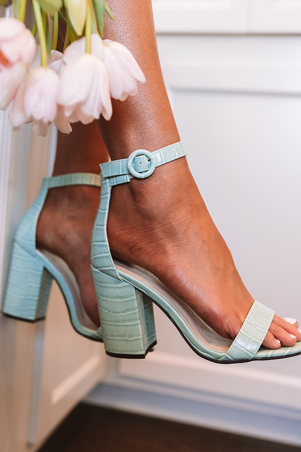 The Melina Faux Leather Heel In Mint