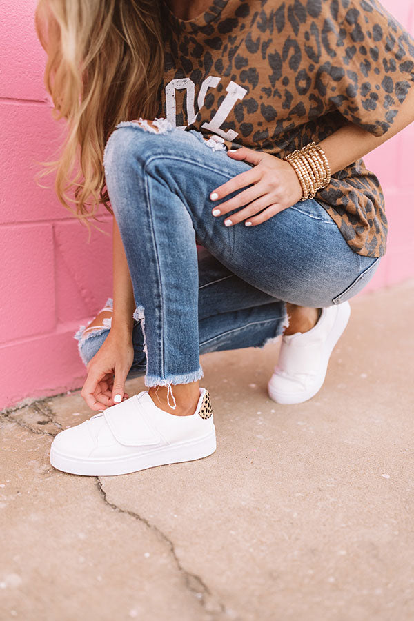 The Penn Platform Sneaker In White