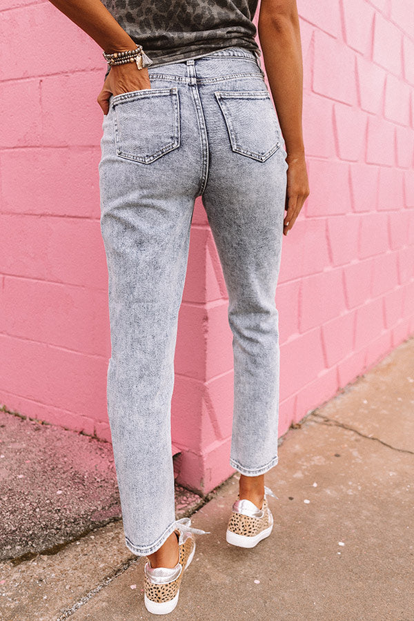 The Blaise High Waist Distressed Relaxed Skinny
