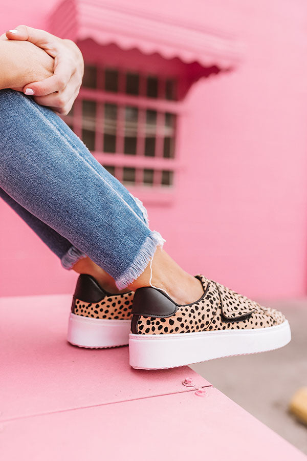The Penn Platform Sneaker In Cheetah Print