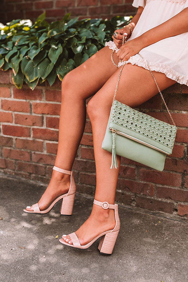 The Melina Faux Leather Heel In Latte