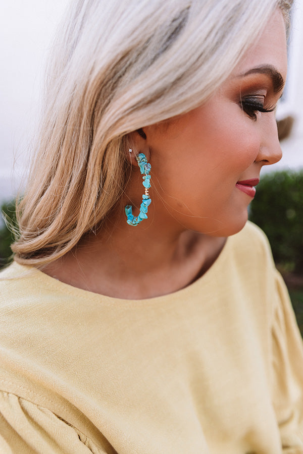 Paradise Please Earrings in Turquoise