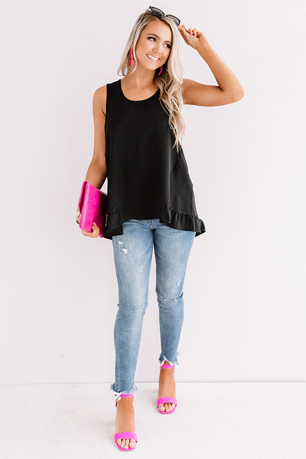 Talk of Tulum Shift Top in Black