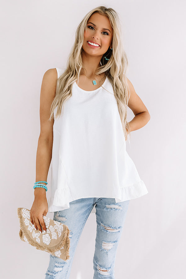 Talk of Tulum Shift Top in White