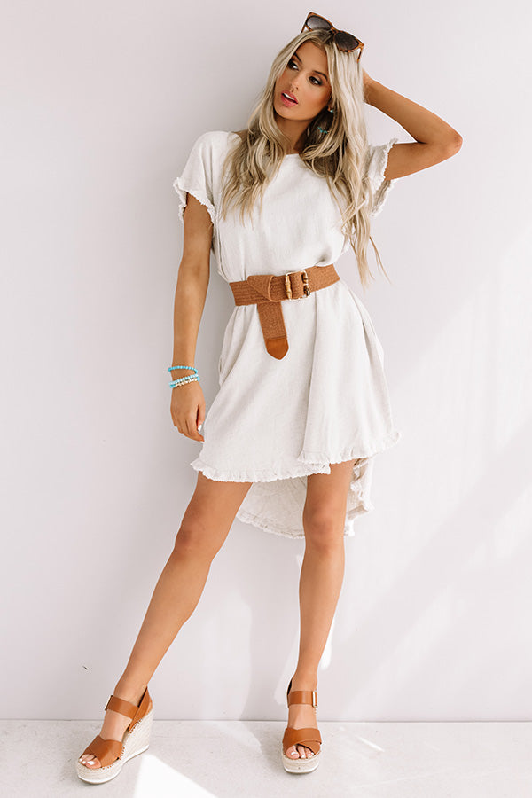 Positano Party Shift Dress In Stone