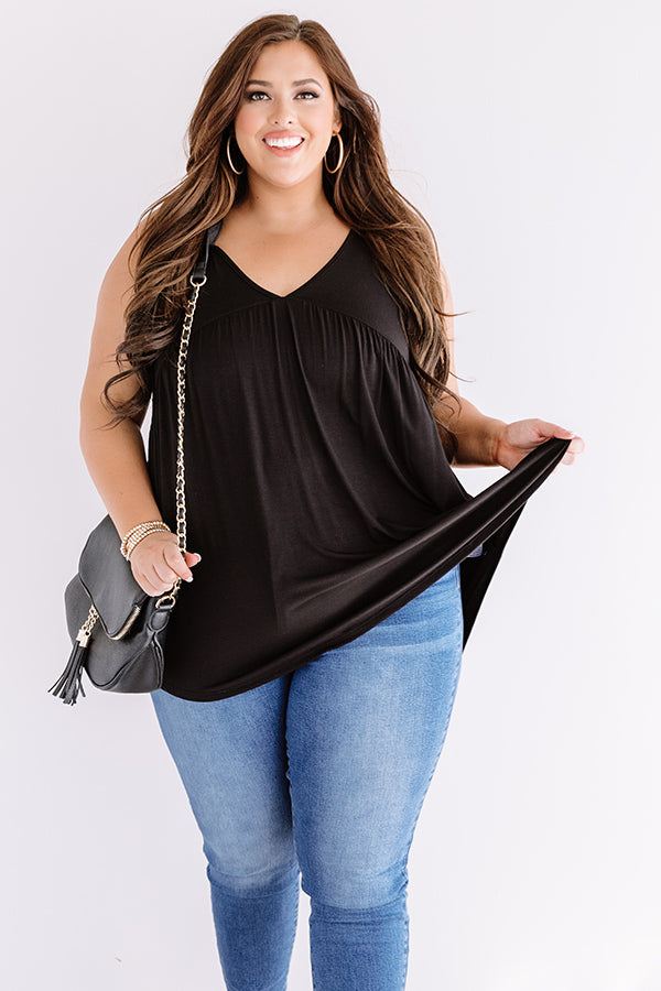 Making Wishes Babydoll Top In Black