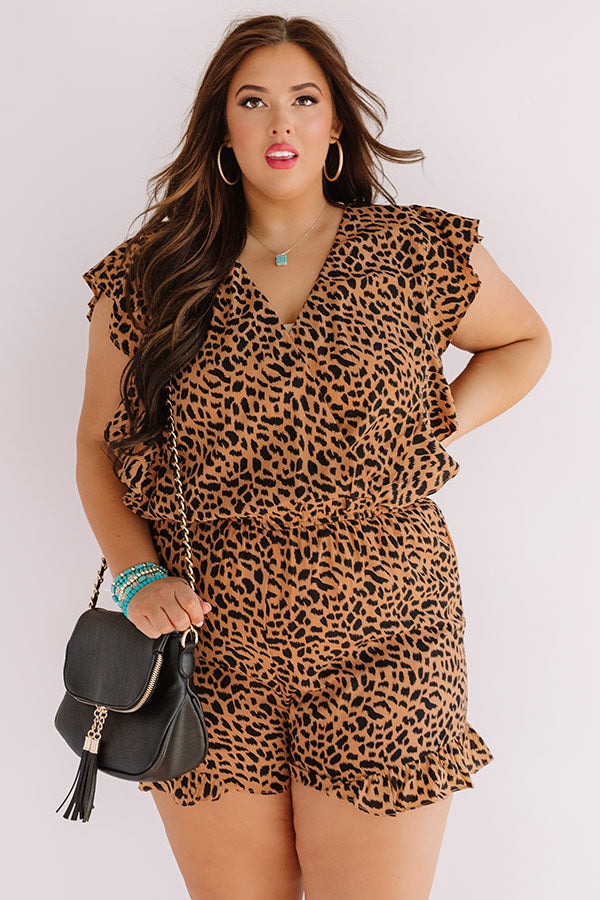 Beverly Hills Babe Leopard Romper
