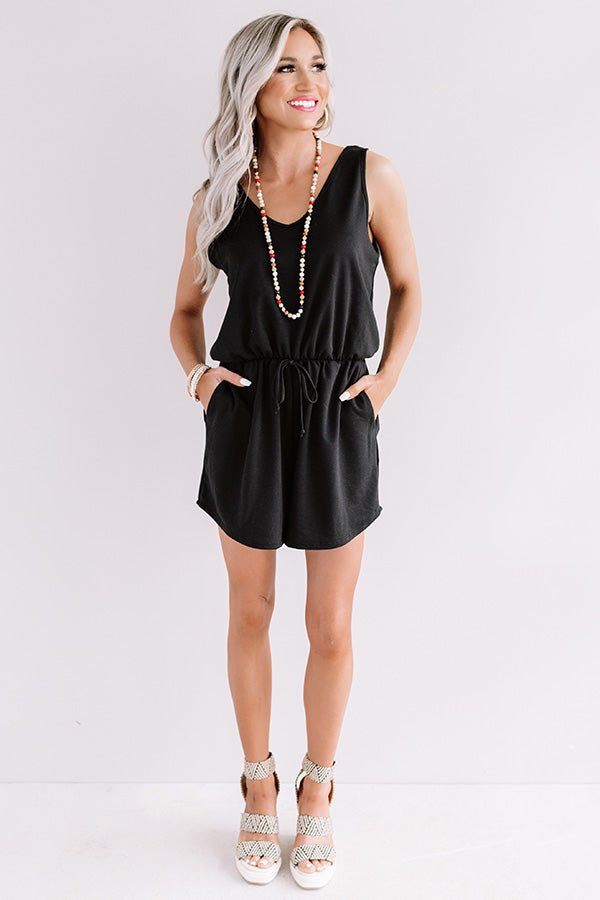 Sipping At Sunset Romper In Black