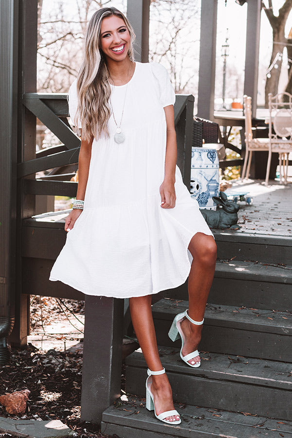 Sweet Dawn Midi In White