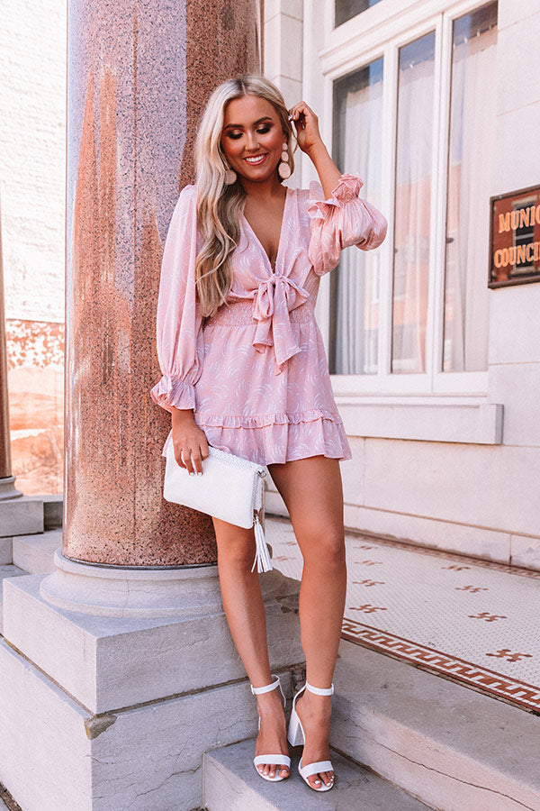 Caught In A Moment Romper In Rose Quartz