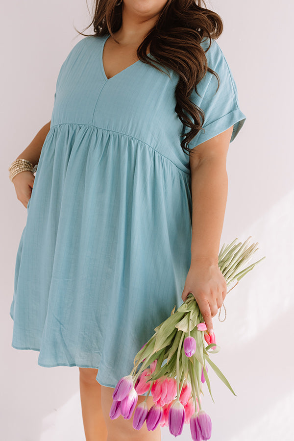 Pretty In Punta Cana Babydoll Dress In Limpet Shell