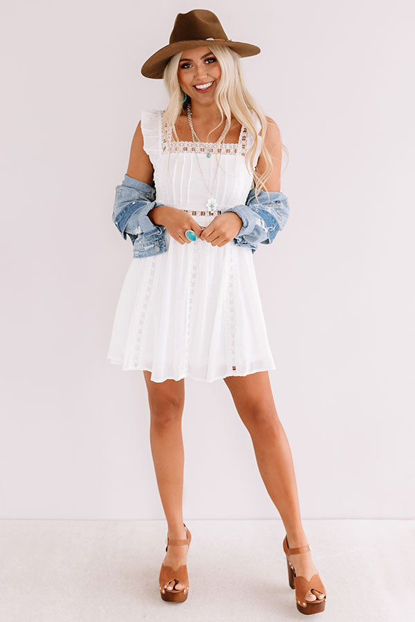 Postcard Perfection Lace Dress In White