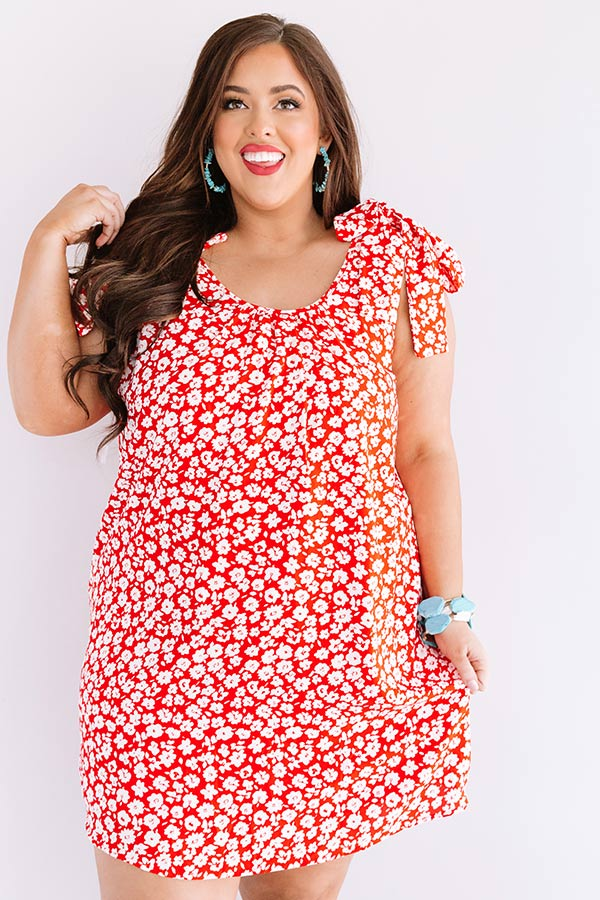 Kauai Cute Shift Dress In Red