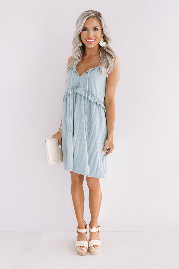 Bayside Babe Babydoll Dress in Limpet Shell