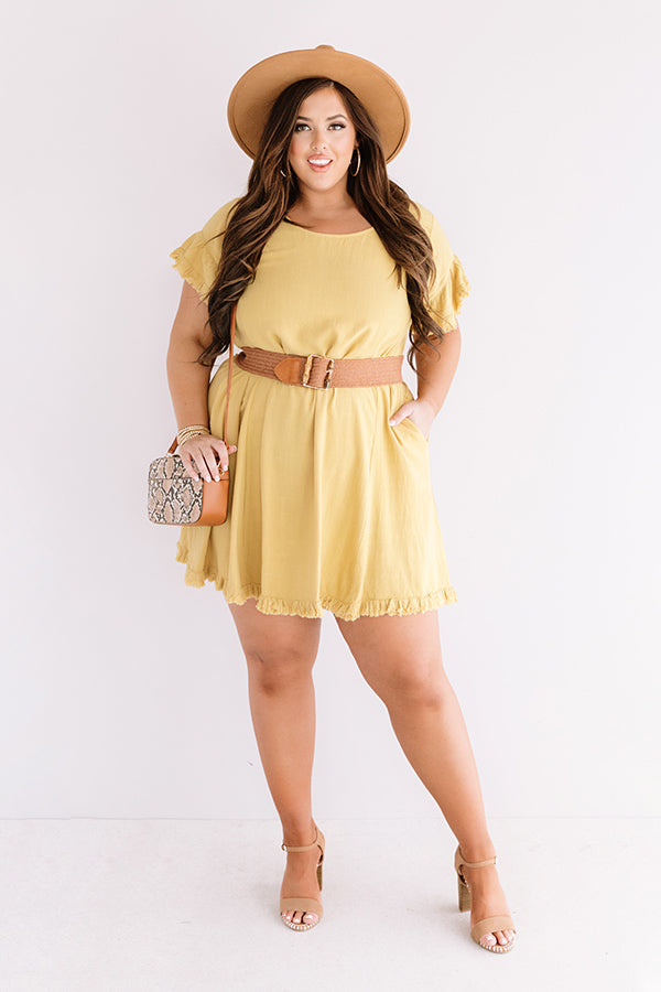 Treading Lightly Shift Dress In Primrose Yellow